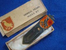 Small Vintage Norwegian .925 Silver & Enamel Bookmark, MOSS, GULLSMED BØHM