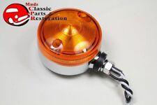 "3"" Amber Single Face Fender Body Mount LED Light Hot Rat Rod Truck Motorcycle"