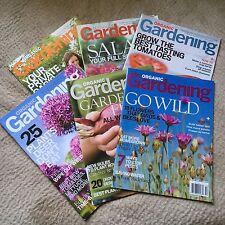 Lot of 6 Organic Gardening magazines back issues 2008/2009