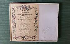 Bride Hankie Handkerchief Wedding Poem From Friend Gift Keepsake Favor BH115
