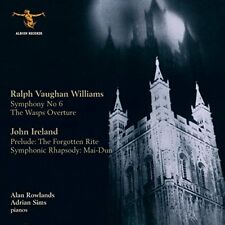 Alan Rowlands - Vaughan Williams : Symphony 6 for 2 pianos, Wasps Overture [CD]