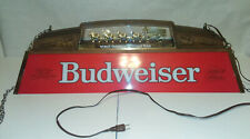 Vintage Budweiser Pool Table Light Worlds Champion Clydesdale Team!