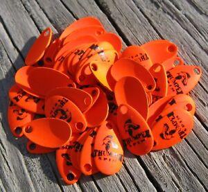 Northland Size 1 Blaze Orange Thumper Spinner Blades- Lot of 100