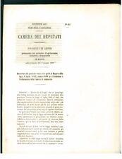 CAMERA DEPUTATI 1867 ESTENSIONE VENETO MANTOVA ISTITUZIONE CAMERA DI COMMERCIO