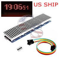 MAX7219 Microcontroller 4 In 1 Display LED 5P Line Dot Matrix Module Arduino US