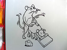 Mouse trap mice stickers/car/van/bumper/window/decal laptop fridge code 5251 BK