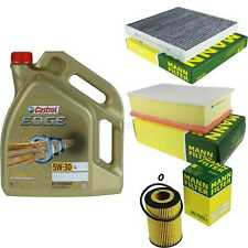Inspection Kit Filter Castrol 5L Oil 5W30 For VW Passat Variation 3G5 2.0 Tdi