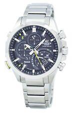 Casio Edifice Tough Solar Dual Dial World Time Bluetooth EQB-500D-1A Mens Watch