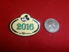 1 Disney pin WDW 2016 Mickey Mouse Name Tag  as seen lot 4