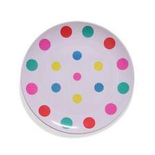 Barel Multi Colour Polka Dot Melamine Dinner Plate 20cm Shatterproof & BPA Free!