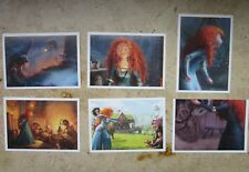 "6 Sticker Aufkleber Panini Walt Disney Pixar ""Merida - Legende der Highlands"""