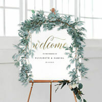 Artifical Willows Leaves Garland Backdrop Wall Silk Wedding Party Home Decor