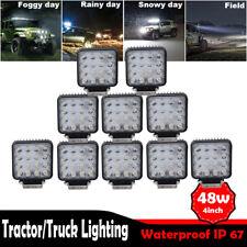 10x 48W LED Work Light Square Spot Lamp Headlight Off road boat Truck  UTE