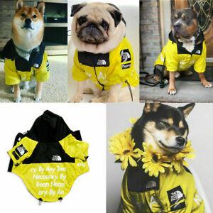 2021 The Dog Face Dog Waterproof Coat Pet Fashion Raincoat Clothing Style UK