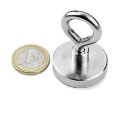 Super Magnete al Neodimio OTN-32 POTENZA 30 Kg CON PRATICO OCCHIELLO IN ACCIAIO