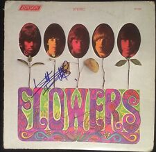 Keith Richards & Charlie Watts Signed The Rolling Stones Flowers Album Cover PSA