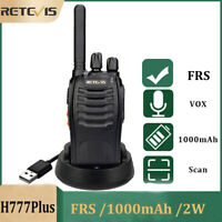 Retevis H777Plus Two Way Radio Alarm 1000mAh 2W VOX TOT CTCSS/DCS Walkie Talkies