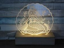 LED Acrylic Mermaid Light Up Lamp Plaque Night Light