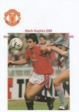 Mark Hughes Manchester United 1983-1986 & 1988-1995 Orig Firmado Revista De Corte