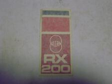 "ADESIVO - DECALO ""GILERA RX 200"""