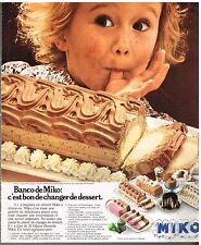 Publicité Advertising 1978 La Glace Banco de Miko