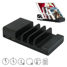 4-Port USB hub Charging Dock Station Charger Stand organizer For Tablet iPhone