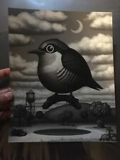Mike Mitchell Yellow Fronted Woodpecker Grey Variant Fat Bird Signed Numbered