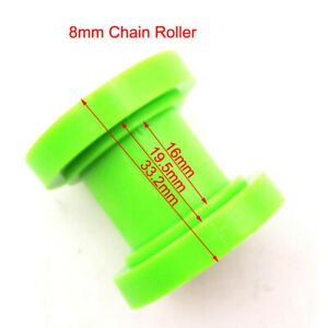 8mm Green Pulley Tensioner Chain Roller Guide For Pit Dirt Trail Bike Motocross