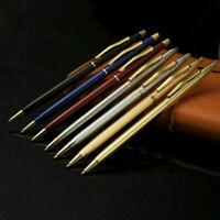 Luxus-Vollmetall-Kugelschreiber 1mm schwarze Tinte Gelstift Büro Schreibwar V9Z5