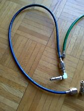Dental Nitrous Oxide OR Oxygen Wall to Flowmeter Hose with Oxequip QD  3 foot