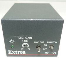 Extron MP 101 33-1137-02 Microphone Preamplifier w/ Connectors Shown