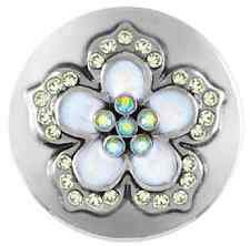 """Buy 4 Get One $6.95 Snap Free Ginger Snaps Jewelry """"Full Bloom White� Sn15-36"""