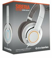 SteelSeries Siberia RAW Prism White Headband Windows Mac PC Gaming Headset New