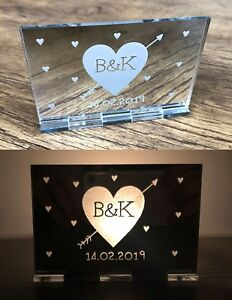 Personalised Valentines Gifts For Her Him Girlfriend Wife Candle Holder Gifts