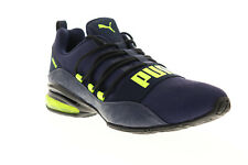 Puma Cell Regulate Camo 19258203 Mens Blue Mesh Low Top Athletic Running Shoes