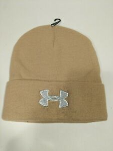 Under Armour UA Outdoor Beige Ribbed Cuff Beanie