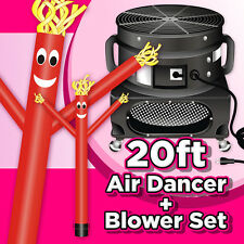 20ft Red Air Dancers® inflatable tube man attachment & Blower complete set