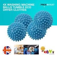 4x WASHING MACHINE BALLS TUMBLE ECO DRYER CLOTHES SOFTENER CLOTHES UK