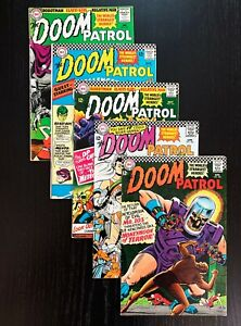 Doom Patrol 101-105, Classic DC Silver Age Series, VG to FN