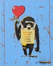 """The Real Not Banksy Front, True Love Fake Art Suckers! """"ORIGINAL"""" Signed rare"""