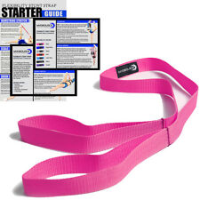 Stretching Strap for Cheerleaders Flexibility Stunt Strap Band Stretching (Pink)