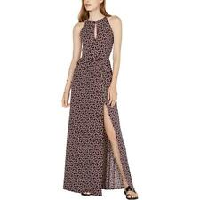 MICHAEL Michael Kors Womens Purple Keyhole Neck a Maxi Dress XS BHFO 0221