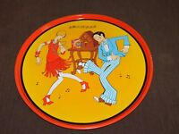 "VINTAGE KITCHEN FOOD AD 15 3/4""  RITZ CRACKERS DANCING RADIO METAL SERVING TRAY"