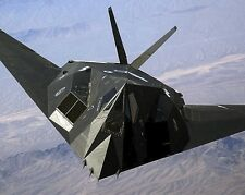 New 8x10 Photo: F-117A Nighthawk Stealth Fighter Jet Aircraft over Nellis AFB