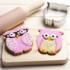 Kitchen Craft Owl Shaped Stainless Steel Biscuit Pastry Cookie Cutter Mold Mould