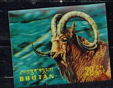 Bhutan Fauna Mountain Goat 3D stamp 1969 MNH