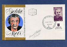 Israel Golda Meir Goldberg Hand Painted Cachets First Day Cover