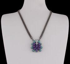 Türkis Modeschmuck-Halsketten aus Strass