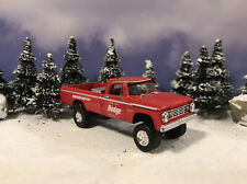 1965 Dodge W200 4x4 Lifted Custom 1/64 Diecast Truck Farm Off Road 4WD W100