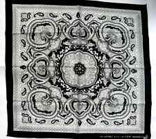 PAISLEY BLACK-WHITE BANDANA 077 NECK HEADBAND BIKERS SCARF WRIST SPORTING COTTON